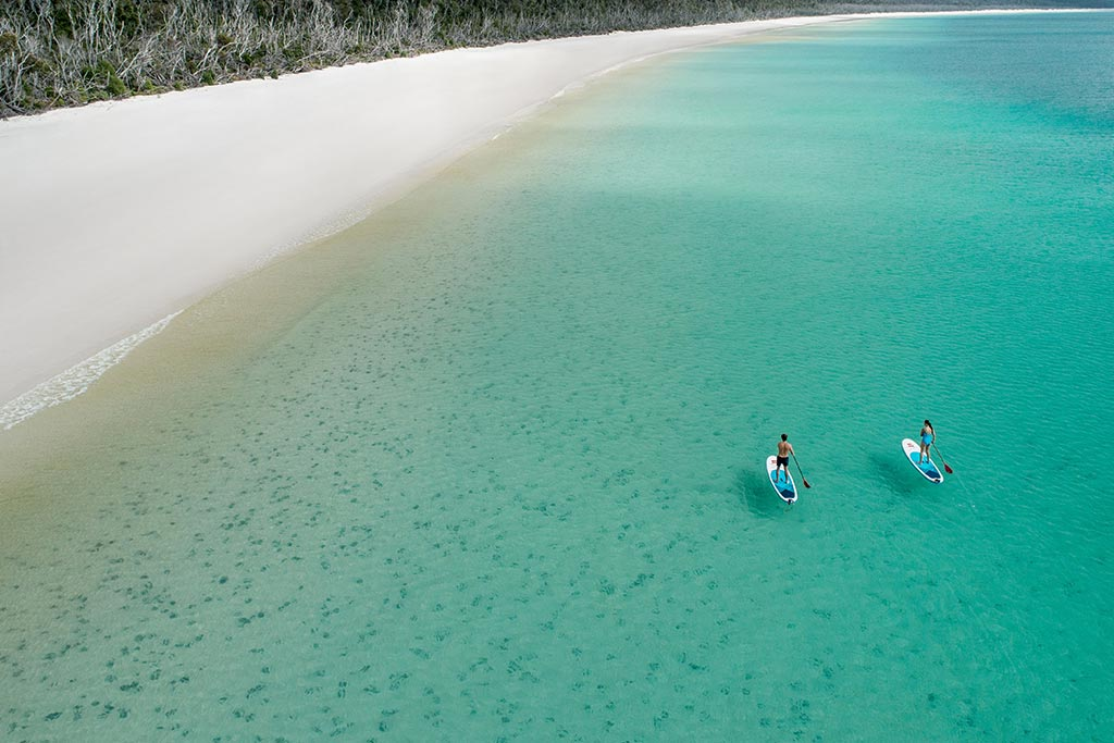 Standup Paddleboarding at Whitehaven Beach