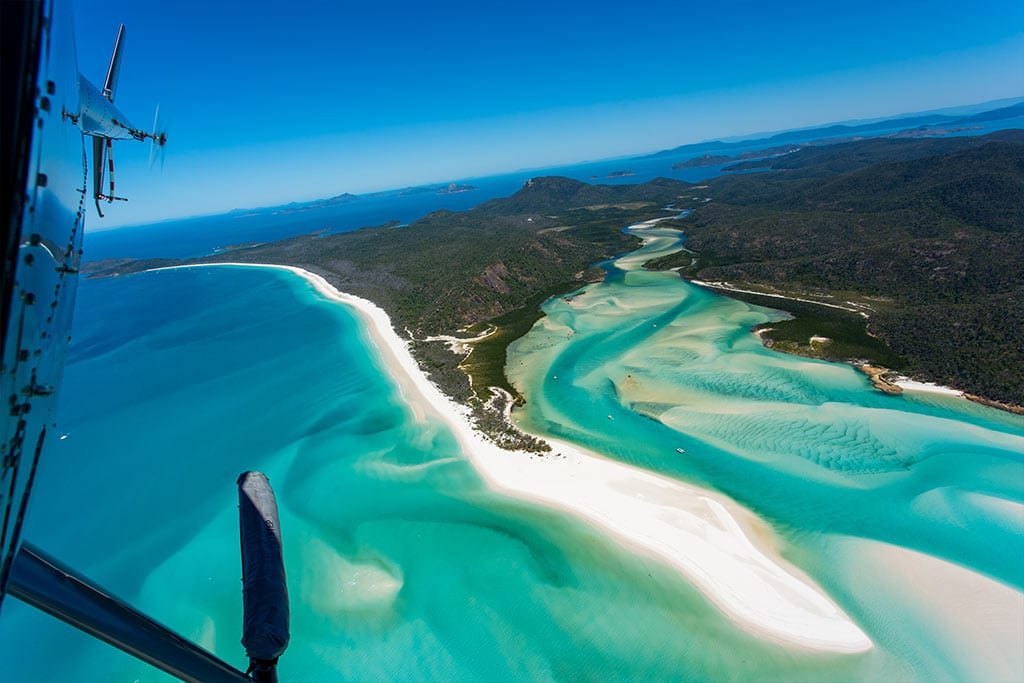 Helicopter Tour Whitehaven Beach